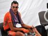 Egoi Martinez, del equipo Euskatel-Euskadi (EUS), toma un descanso en un control antidopaje el 12 de julio de 2009 al final de los 160 kilometros de la novena etapa del Tour de Francia 2009. (LIONEL BONAVENTURE / AFP / Getty Images)