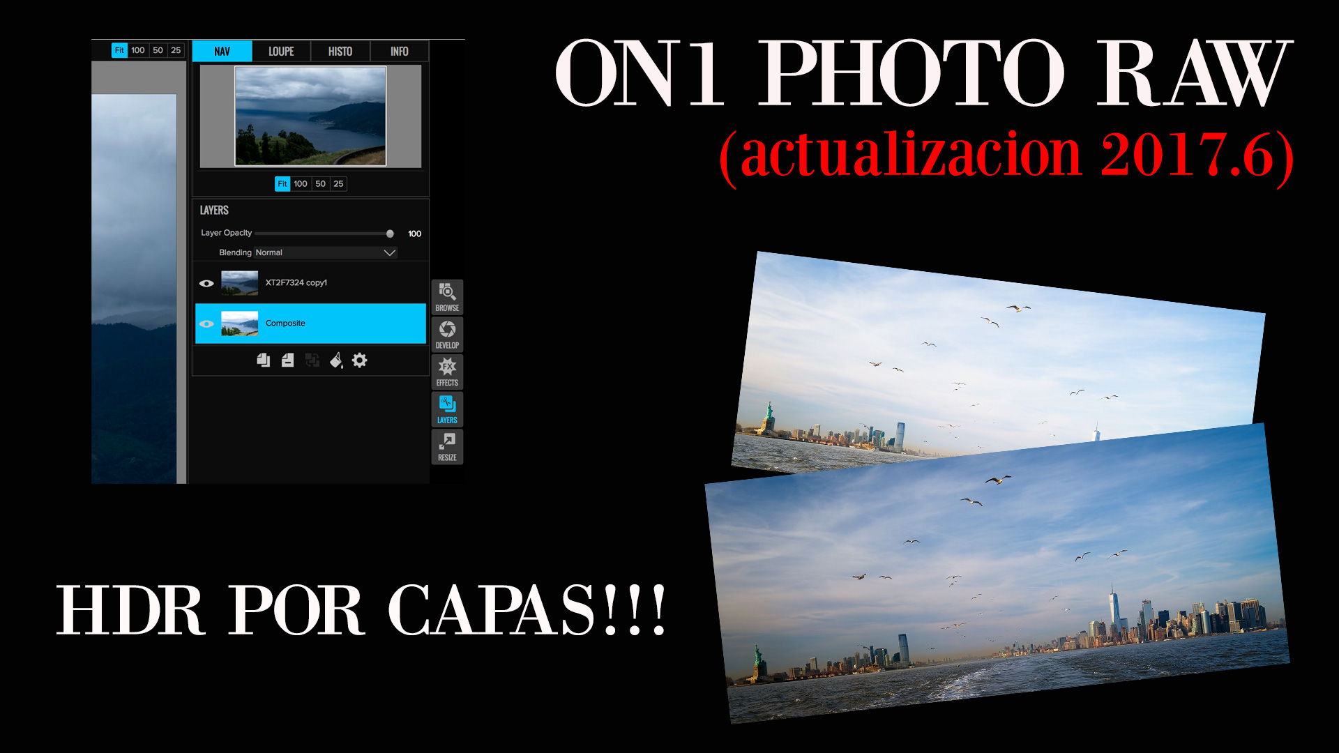PHOTO RAW (actualización 2017.6) y HDR por capas!