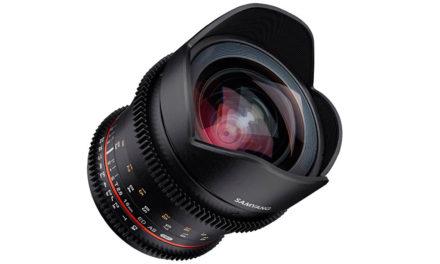 Samyang V-DSLR 16mm T2.6 para video y cine en cámaras DSLR