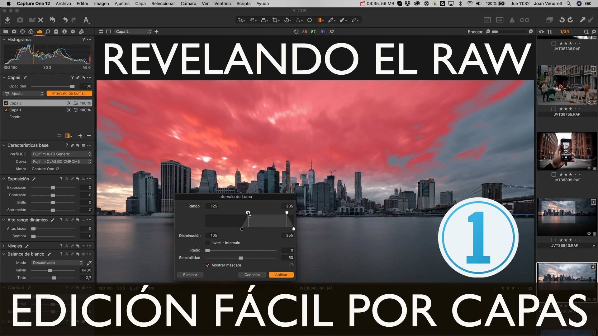 Clase de Revelado RAW 001 con Capture One