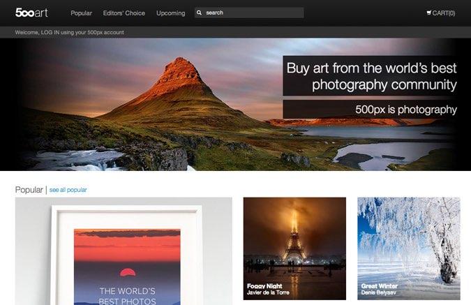 500px Art; Lo nuevo de 500px para vender nuestras fotografías