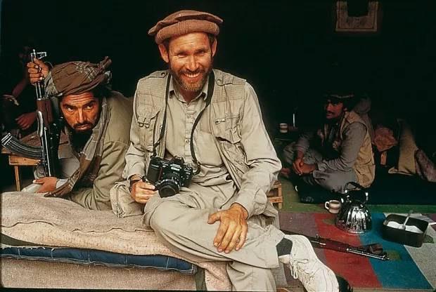 Steve Mccurry en Afganistán en Junio 1985. ©Steve McCurry