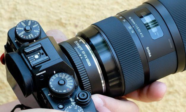 Prueba de vídeo del Sigma 18-35mm ƒ/1,8 ART montado en una Fujifilm X-T3 con el adaptador Fringer EF-FX Pro II