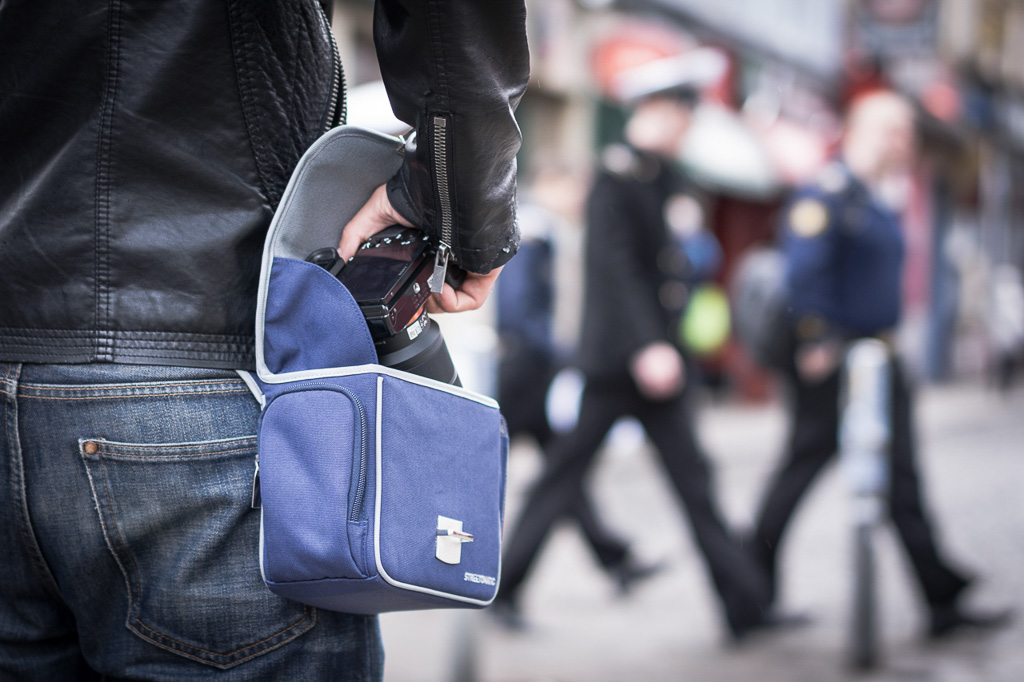 Cosyspeed Camslinger Streetomatic, diseñada para la street photography