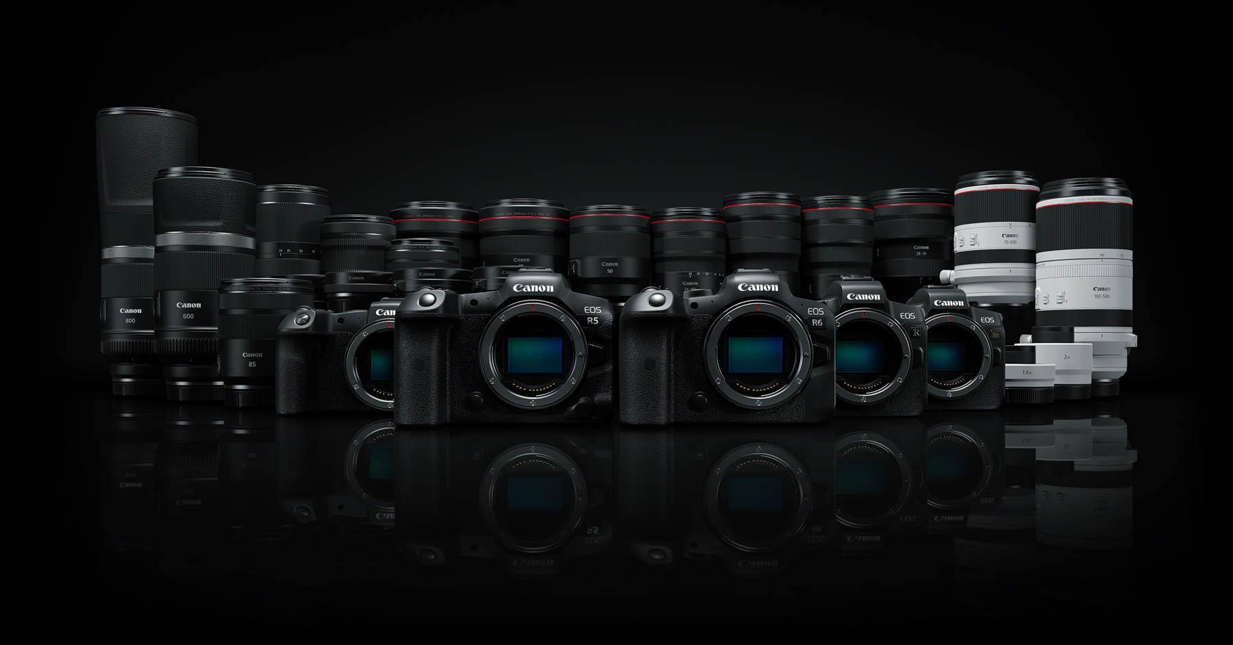 Nuevas Canon EOS R5 y EOS R6, cuatro nuevos objetivos y dos multiplicadores