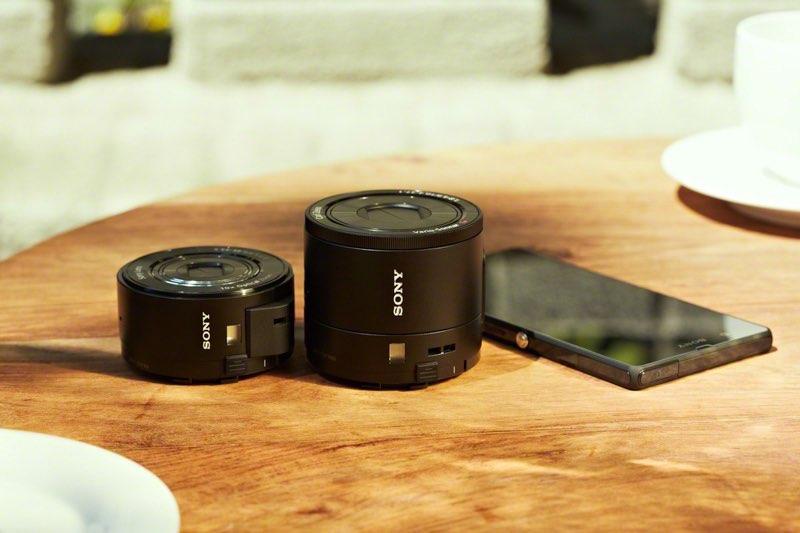 Sony QX100 y QX10 objetivos con sensor para nuestro smartphone