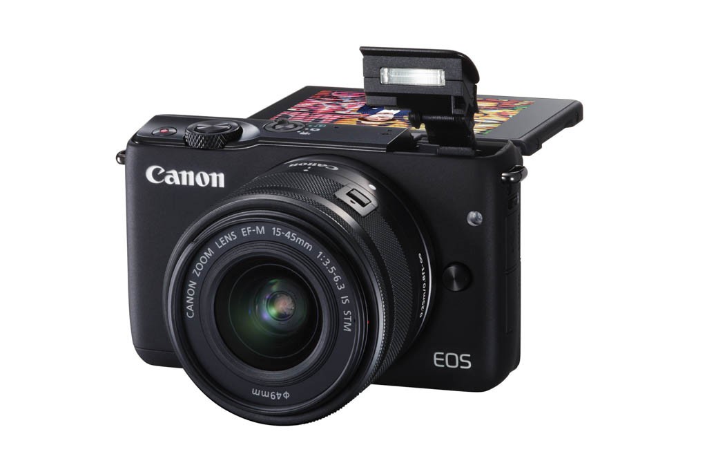 EOS M10 BK EF-M15-45STM FSL Flash Up LCD UP 90