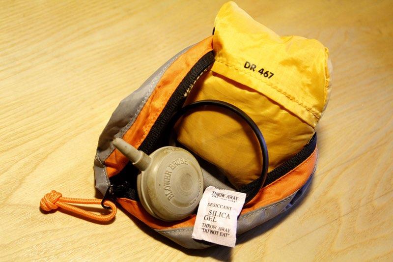 El botiquín de la mochila fotográfica