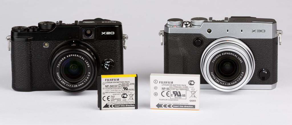 Fuji X20 vs X30 - Bateria