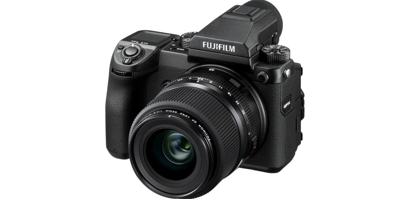 Fujifilm presenta el sexto objetivo de la serie GF, el Fujinon GF 45mm ƒ/2,8 R WR