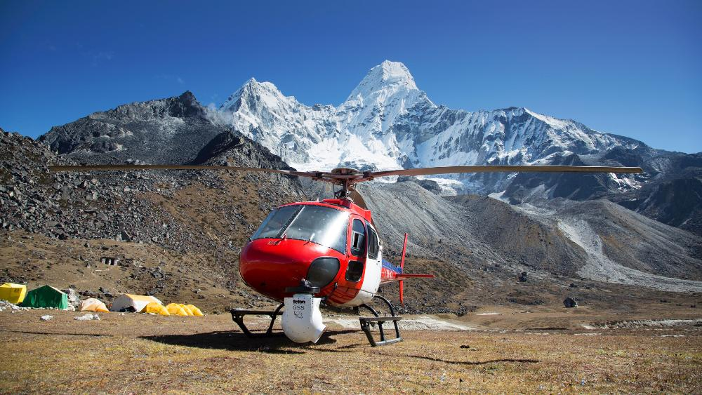 Estabilizador GSS C520 montado en un helicóptero