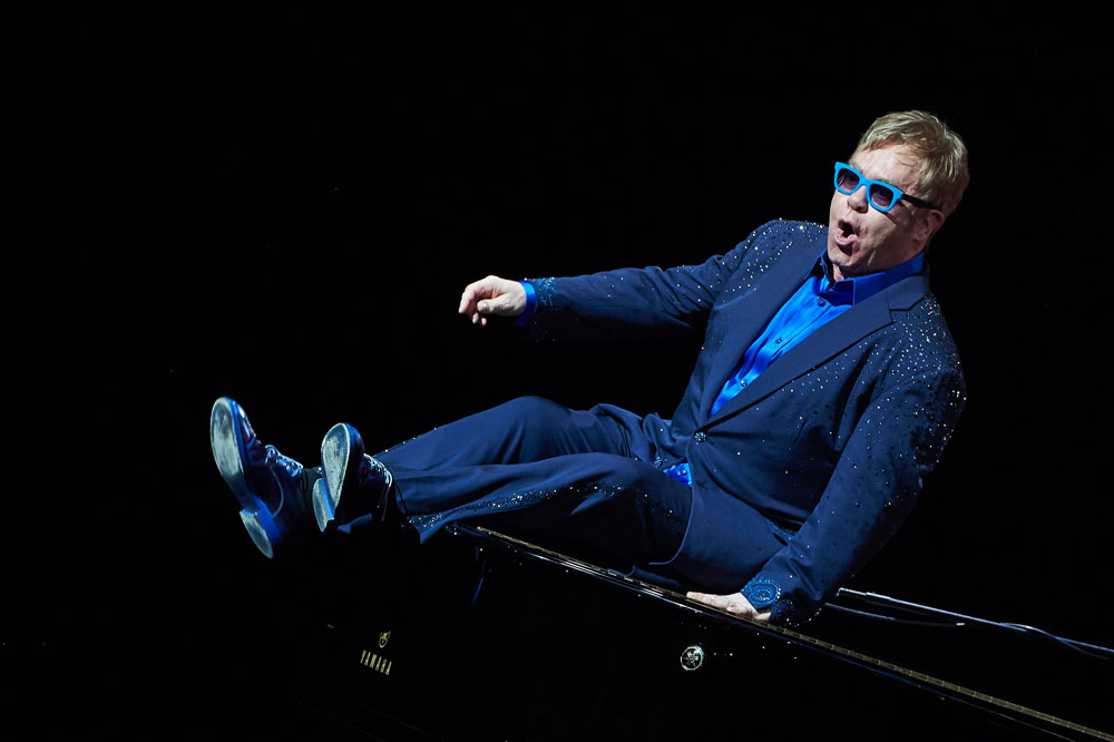 MADRID, SPAIN - JULY 20: Elton John performs on stage at the Royal Theater on July 20, 2015 in Madrid, Spain. (Photo by Carlos Alvarez/Redferns via Getty Images) *** Local Caption *** Elton John