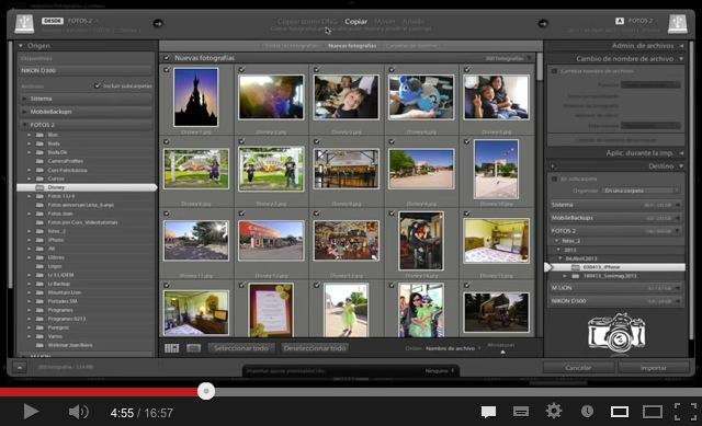 Cómo importar fotografías con Lightroom (Videotutorial)