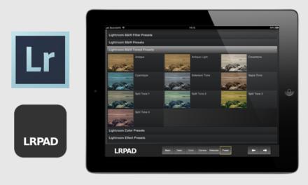 Maneja Lightroom desde el iPad con LRPAD