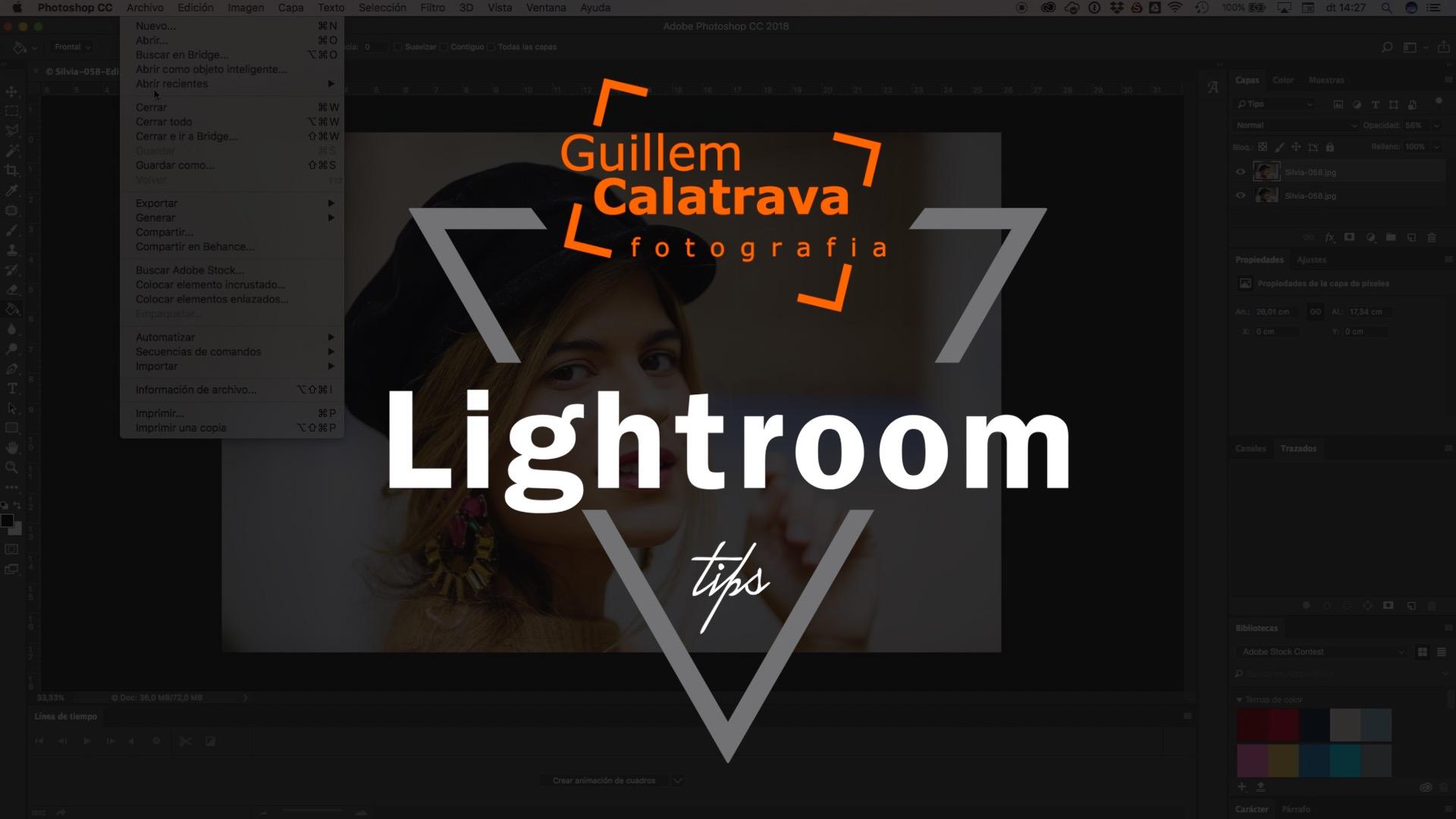 Cómo ajustar la intensidad de un preset en Lightroom