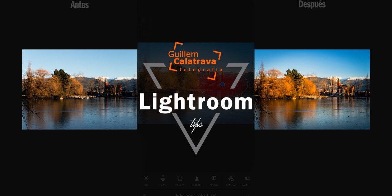 Editando con Lightroom CC en smartphone
