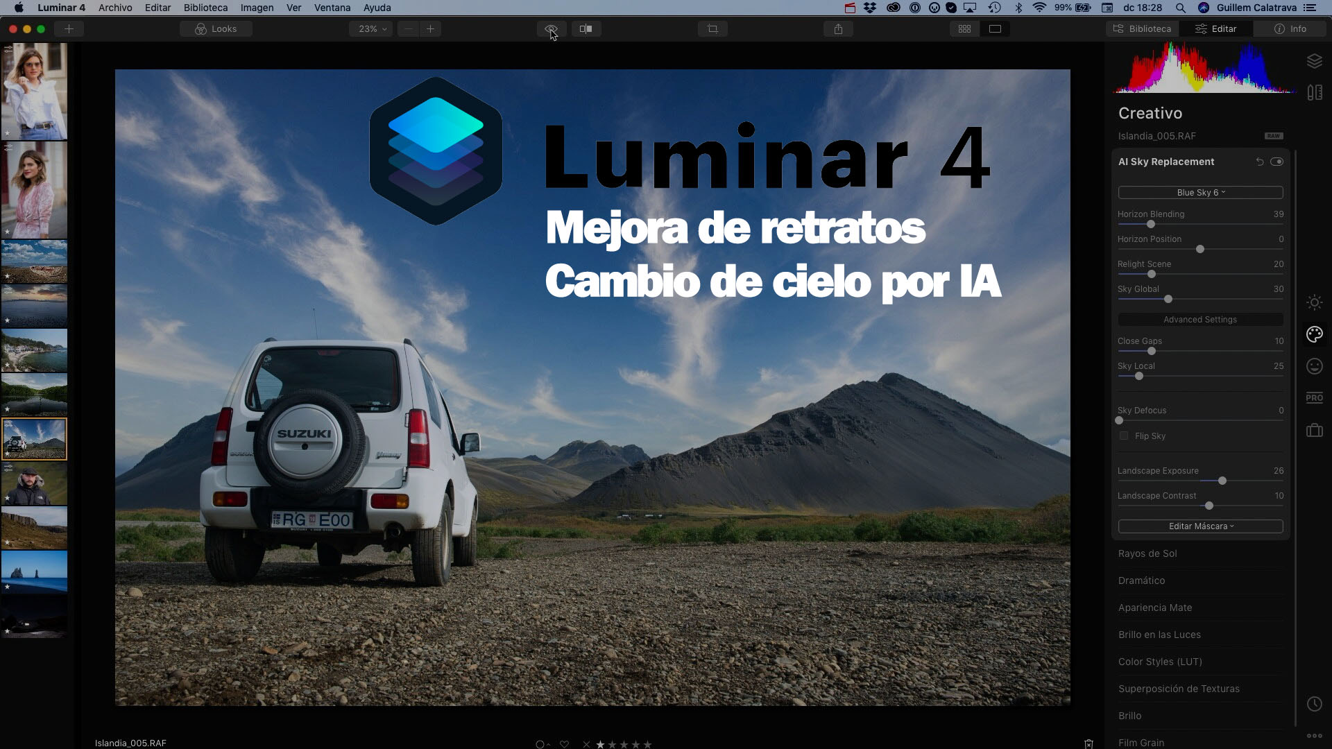 Luminar 4, review en español de las nuevas herramientas
