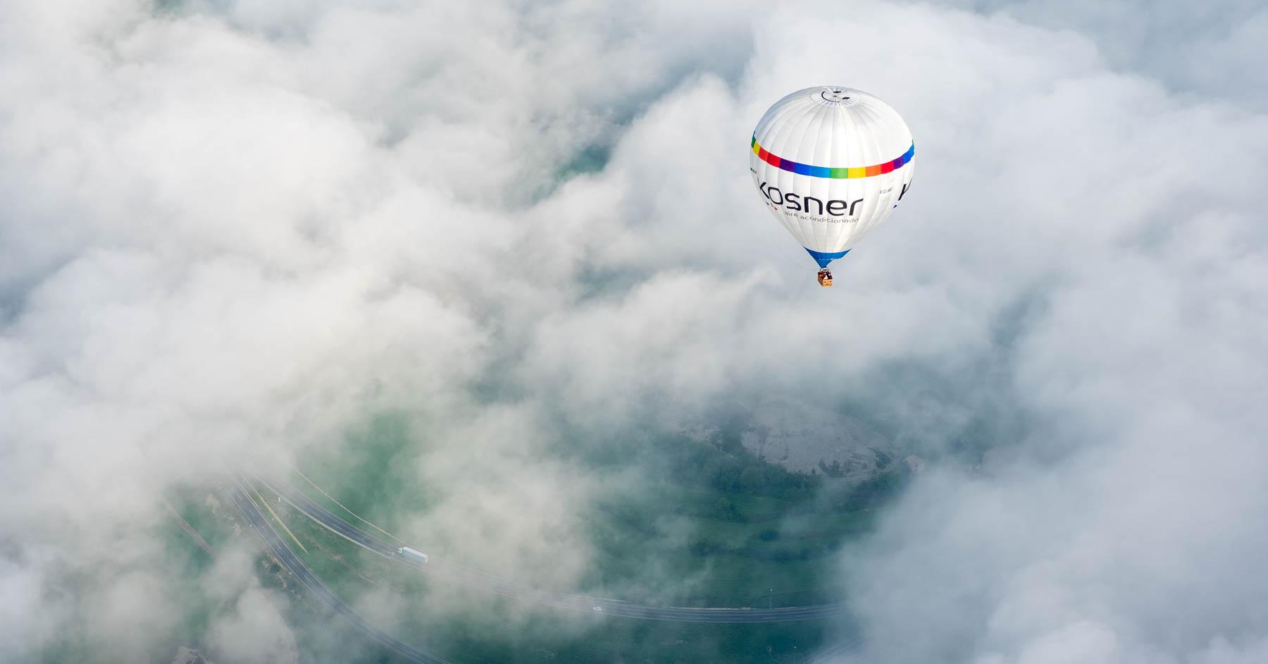 Volando en globo por Vic (Osona)