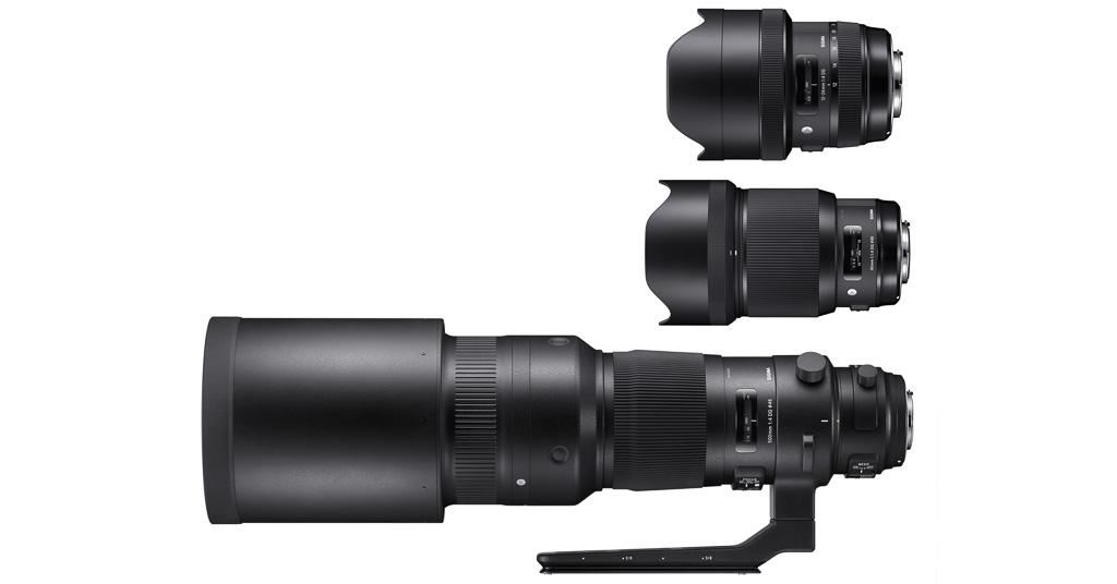 Sigma presenta tres nuevos objetivos: 500mm f/4 Sports, 12-24mm f/4 Art y 85mm f/1,4 Art