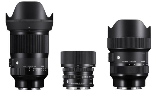 "Nuevos objetivos Sigma para cámaras sin espejo ""full frame"": 35mm ƒ/1,2, 45mm ƒ/2,8 y 14-24mm ƒ/2,8 DG"