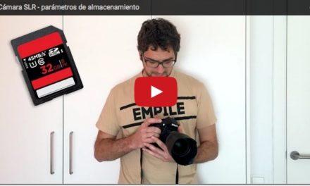 Parámetros de cámara para el almacenamiento de las imágenes