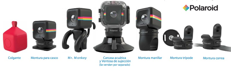 Polaroid Cube Accessorios