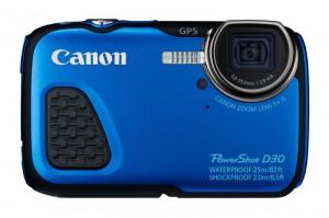 PowerShot D30 BLUE FRT