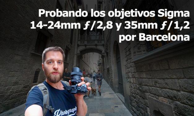 Probando los Sigma 14-24mm y 35mm para Sony por Barcelona