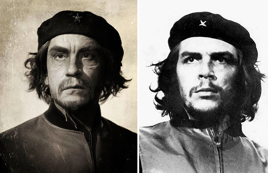 Izquierda: Sandro Miller © 2014 / Derecha: Alberto Korda © 1960 Che Guevara
