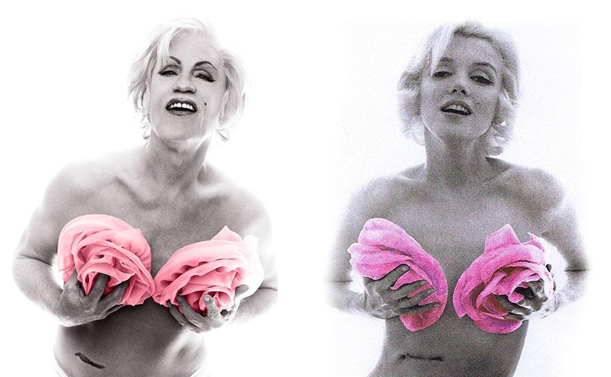 Izquierda: Sandro Miller © 2014 / Derecha: Bert Stern © 1962 <br /> Marilyn Monroe