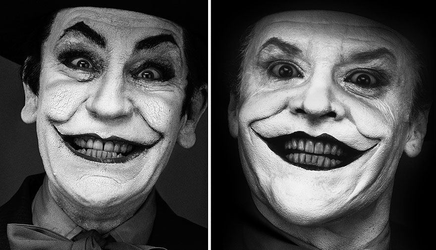 Izquierda: Sandro Miller © 2014 / Derecha: Herb Ritts © 1988 <br /> Jack Nicholson