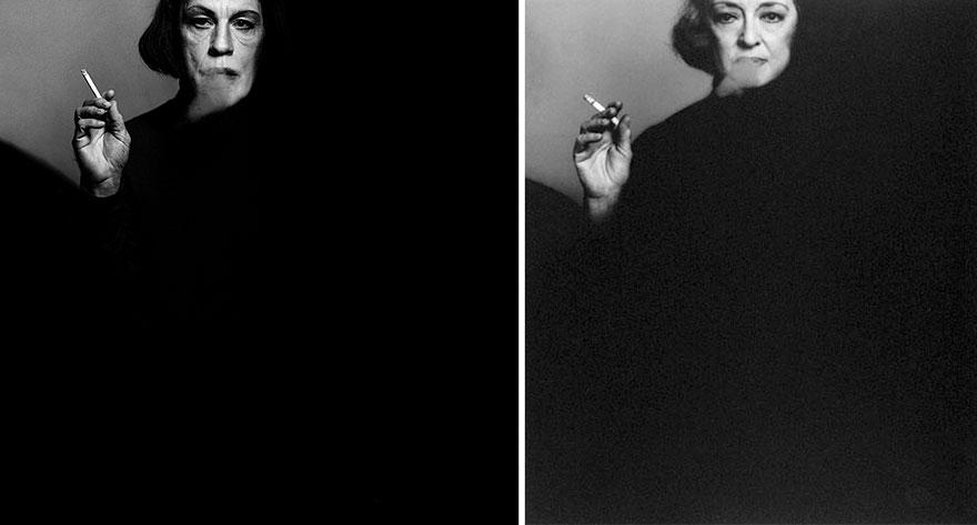 Izquierda: Sandro Miller © 2014 / Derecha: Victor Skrebneski © 1971 <br /> Bette Davis