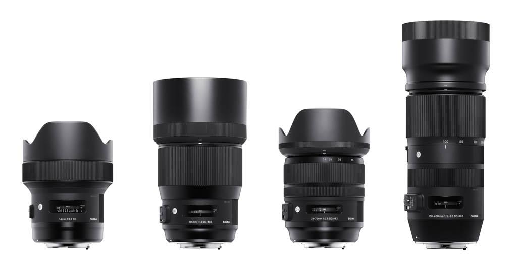Nuevos objetivos Sigma: 14mm f/1.8, 135mm f/1.8, 24-70mm f/2.8 y 100-400mm f/5-6.3