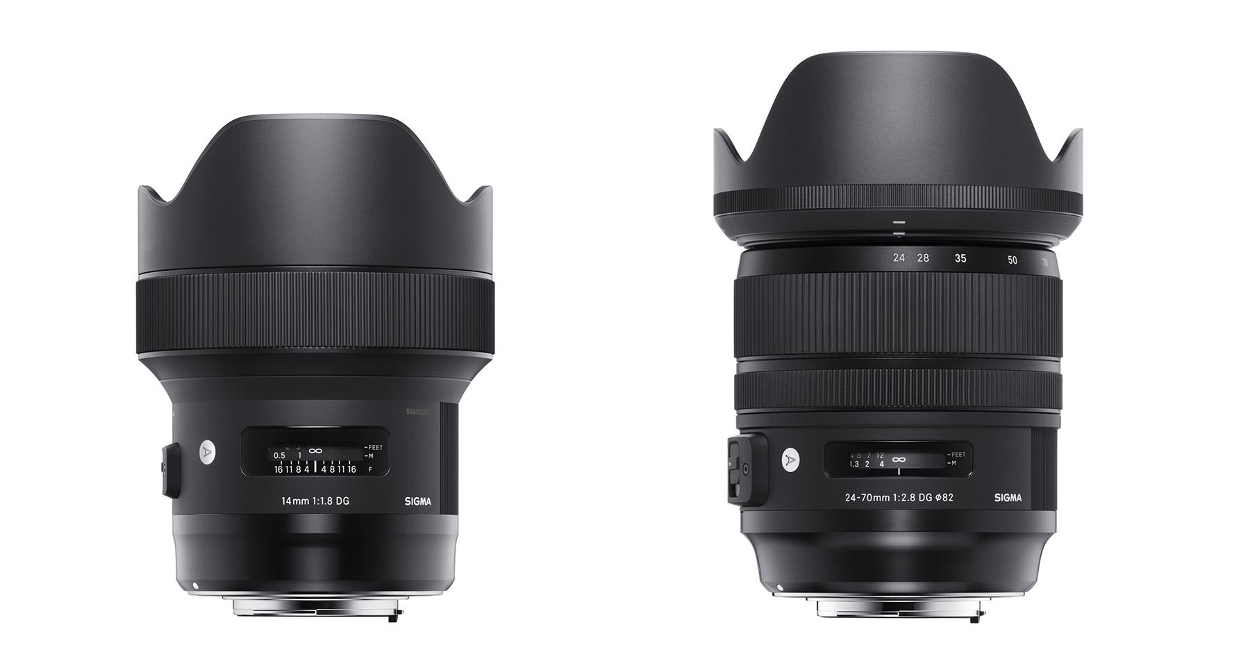 Sigma anuncia la llegada y precio del 24-70mm ƒ/2.8 y del 14mm ƒ/1.8 de la serie Art