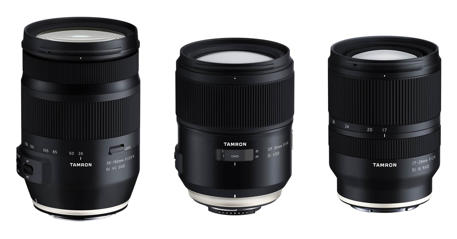 """Tamron anuncia el desarrollo de 3 nuevos objetivos para """"full frame"""""""