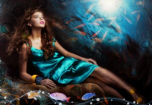 The Ocean Girl Photo Effect
