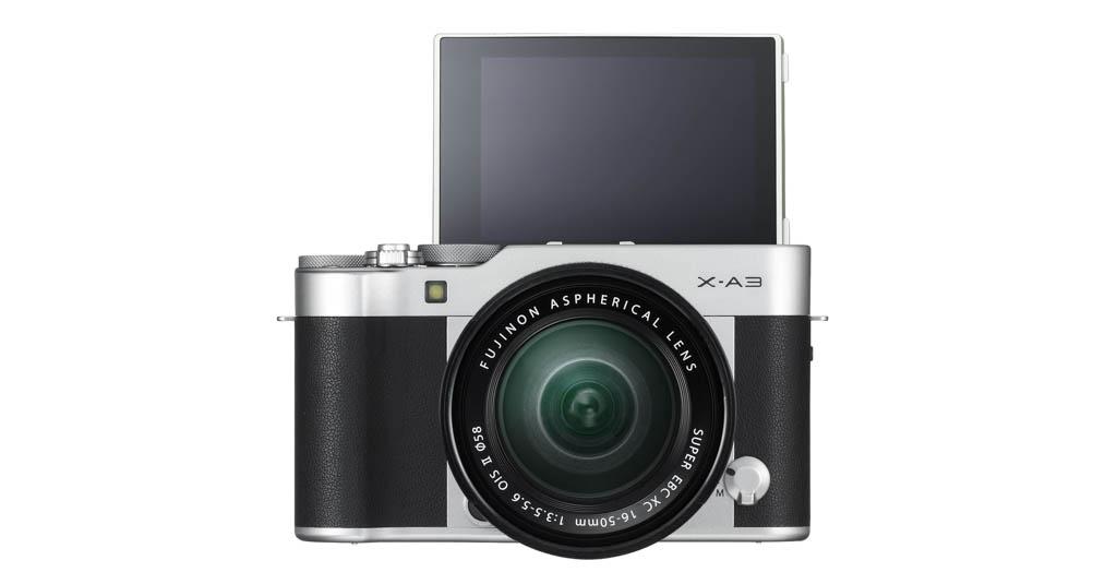 X-A3_Silver_16-50mm_front_tilt180