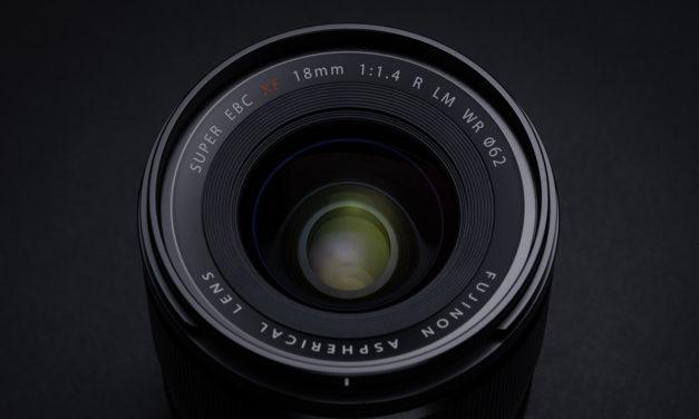 Fujifilm presenta el nuevo objetivo FUJINON XF 18mm ƒ/1,4 R LM WR