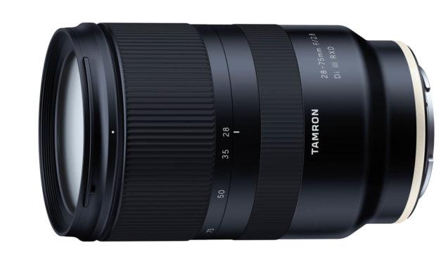 Tamron 28-75mm ƒ/2,8 Di III RXD para Sony en desarrollo