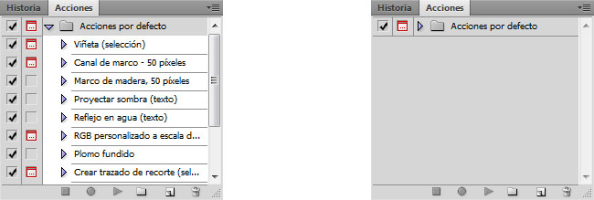 Como crear acciones con Photoshop. Automatiza el flujo de trabajo.