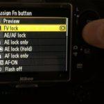 Bloqueo de la medición de flash (FV lock) mediante configuración personalizada de botones de cámara