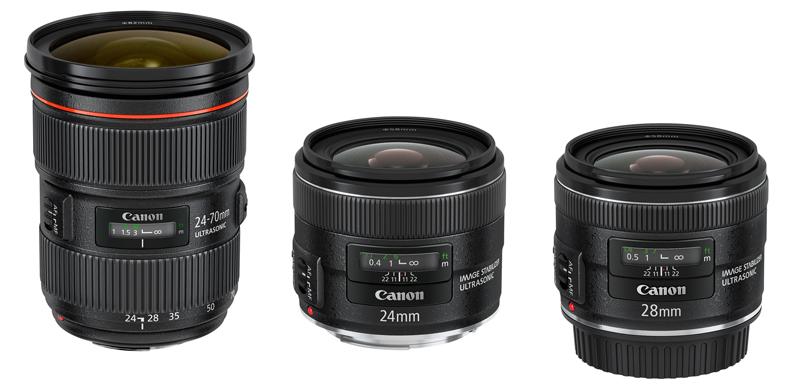 Canon lanza 3 nuevos objetivos: EF 24-70 mm f/2,8L USM, EF 24 mm f/2,8 IS USM y EF 28 mm f/2,8 IS USM