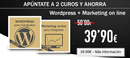 Doble curso online de WordPress y Marketing Online para fotógrafos