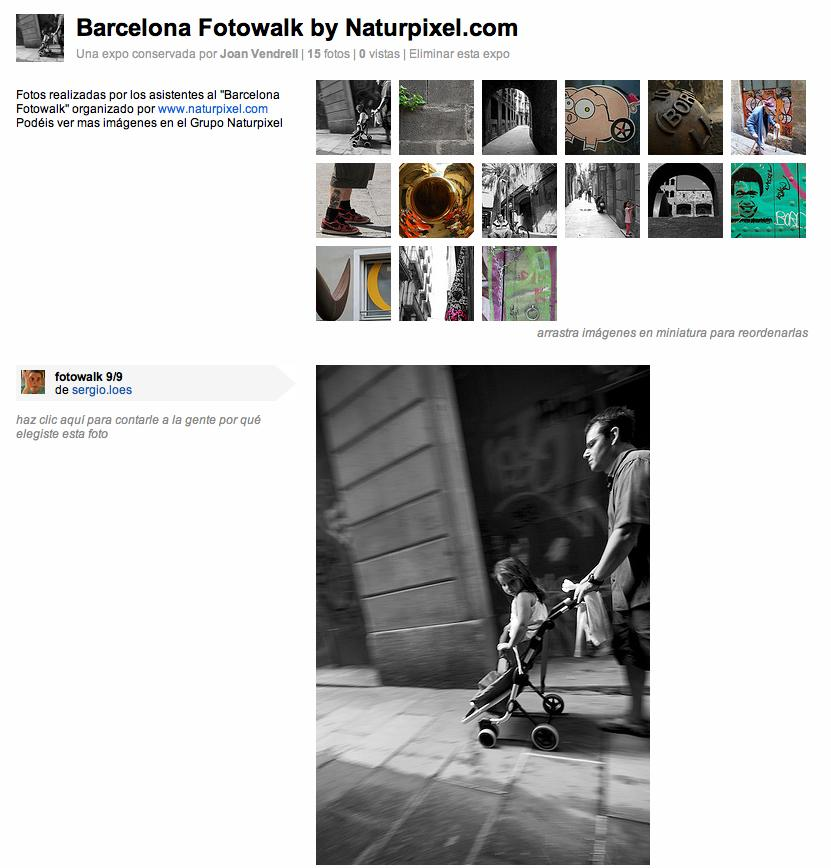 Barcelona Fotowalk, Expo en Flickr