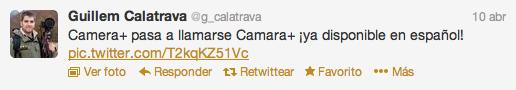 uillem Calatrava ya nos anunciaba el otro día la actualización de Camara+ a través de Twitter.