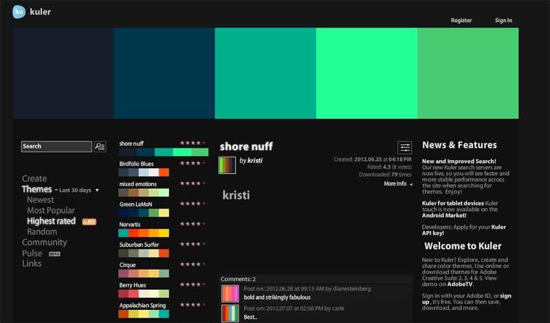 Kuler, una ayuda al color