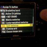 Medición puntual mediante configuración de botones en cámara