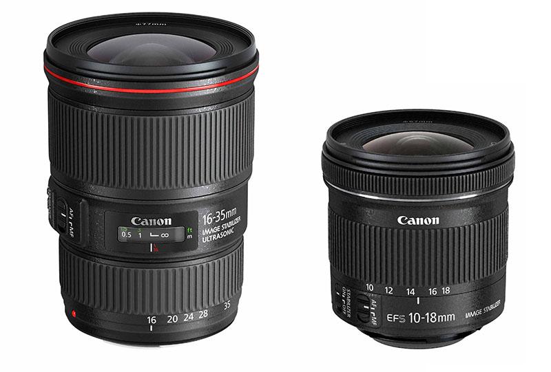 Nuevos objetivos de Canon: EF 16-35mm f/4L IS USM y EF-S 10-18mm f/4,5-5,6 IS STM