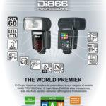 Nissin presenta el Flash Di-866,  con 60 de Nº de Guía a 100 ISO.