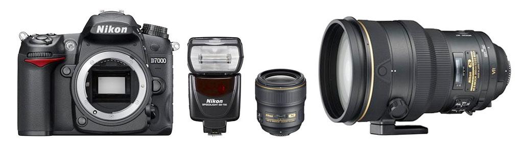Nueva Nikon D7000 y nuevo flash Nikon SB-700, además de objetivos.